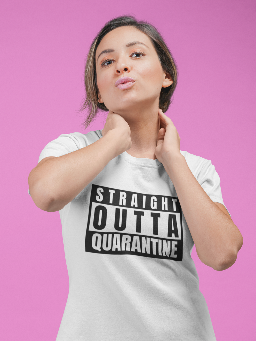 Straight Outta Quarantine Short-Sleeve Unisex T-Shirt