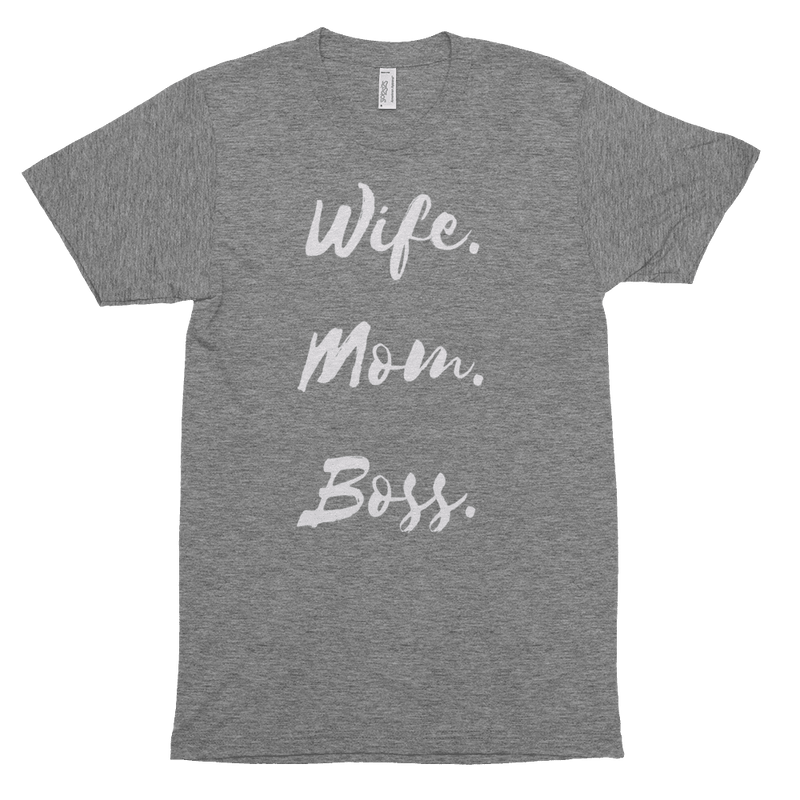 Wife. Mom. Boss. Woman's Short Sleeve Soft T-Shirt