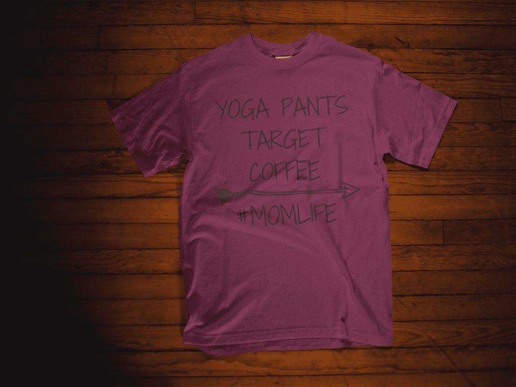 Yoga Pants, Target, Coffee #MOMLIFE Short sleeve soft t-shirt