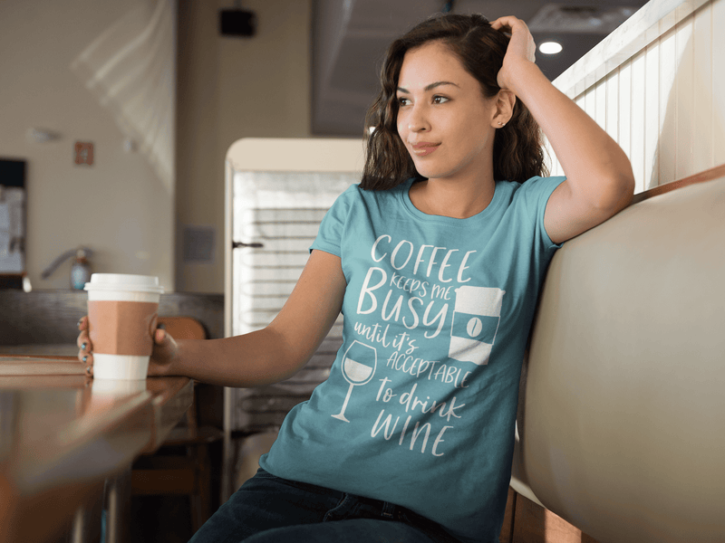Coffee Keeps Me Busy Short Sleeve T-Shirt