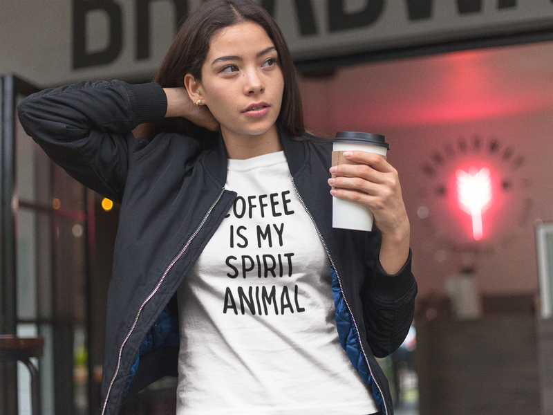 Coffee Is My Spirt Animal Short-Sleeve Unisex T-Shirt