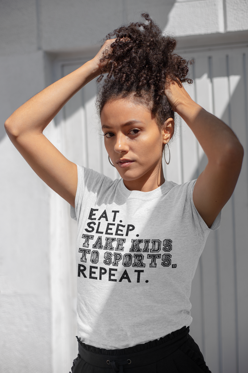 Eat. Sleep. Take Kids To Sports. Repeat. Short-Sleeve Unisex T-Shirt