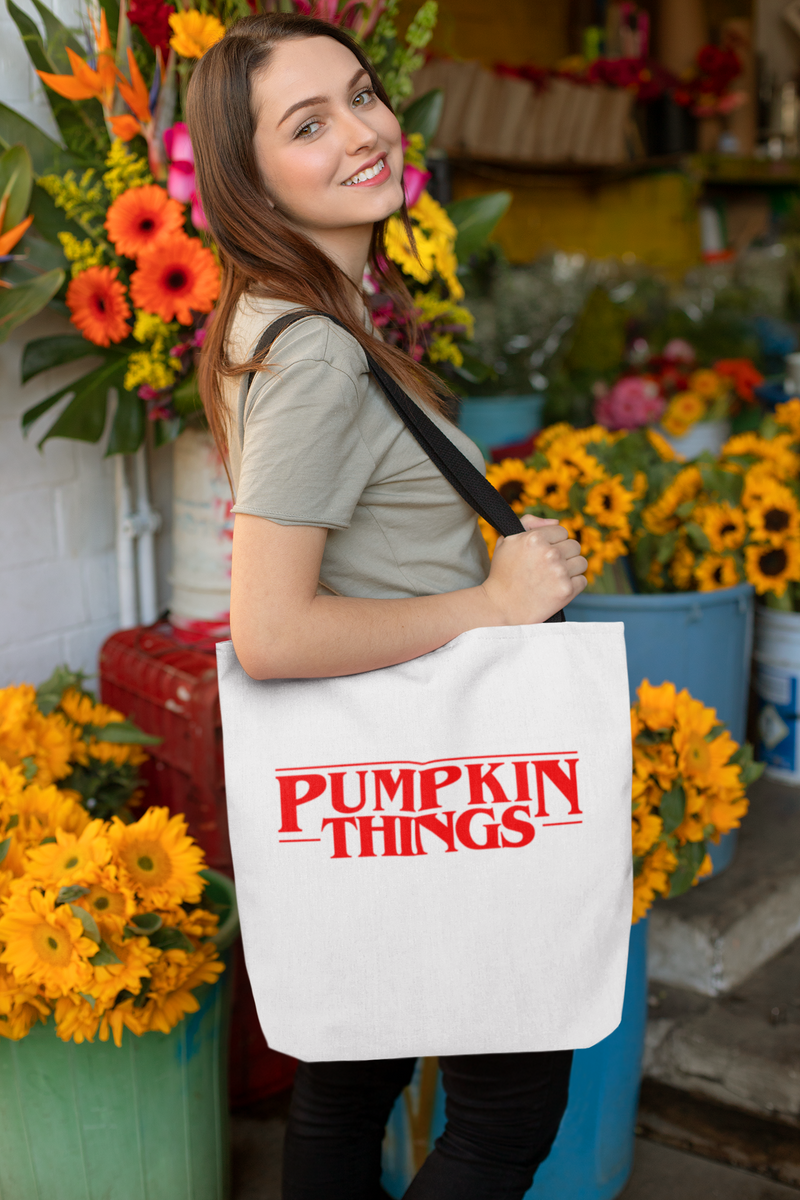 Pumpkin Things (Stranger Things Style) Tote Bag