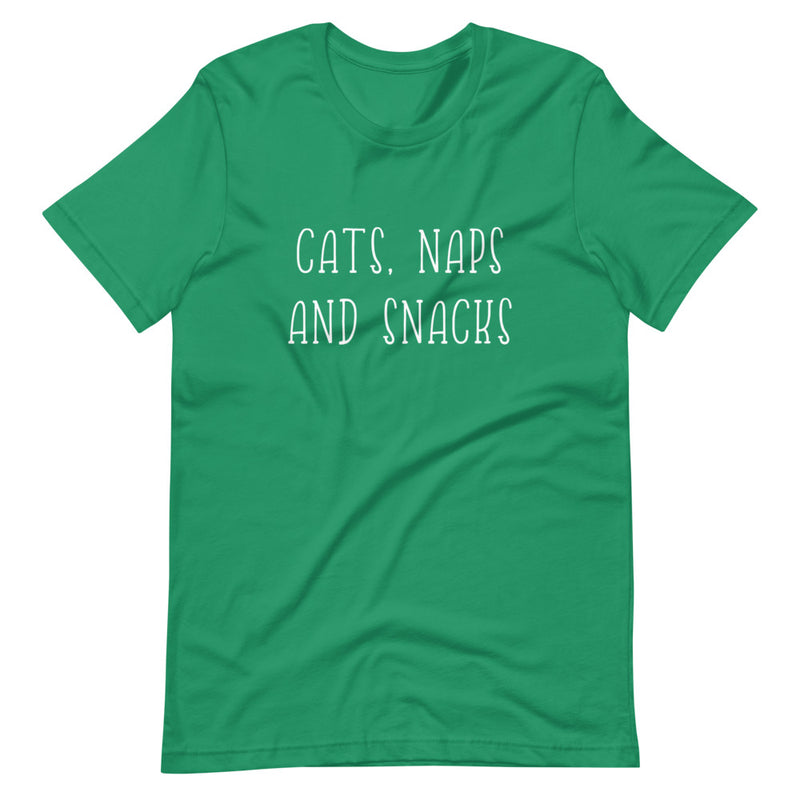 Cats, Naps and Snacks Short-Sleeve T-Shirt