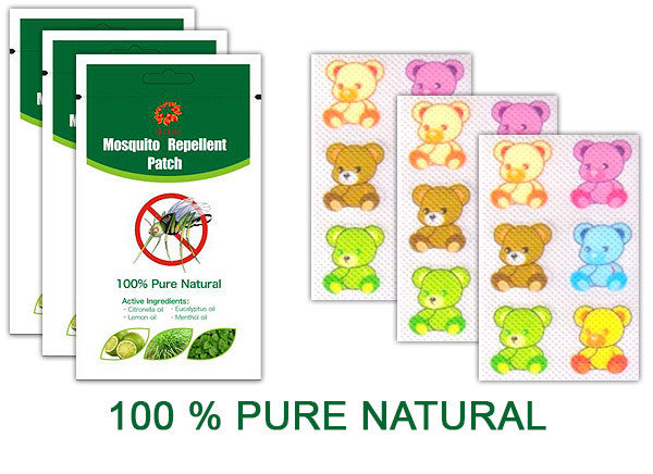3 packages TEDDY BEAR Mosquito Shield 6 pcs