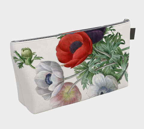Vintage Botanical Anemone Make Up Bag