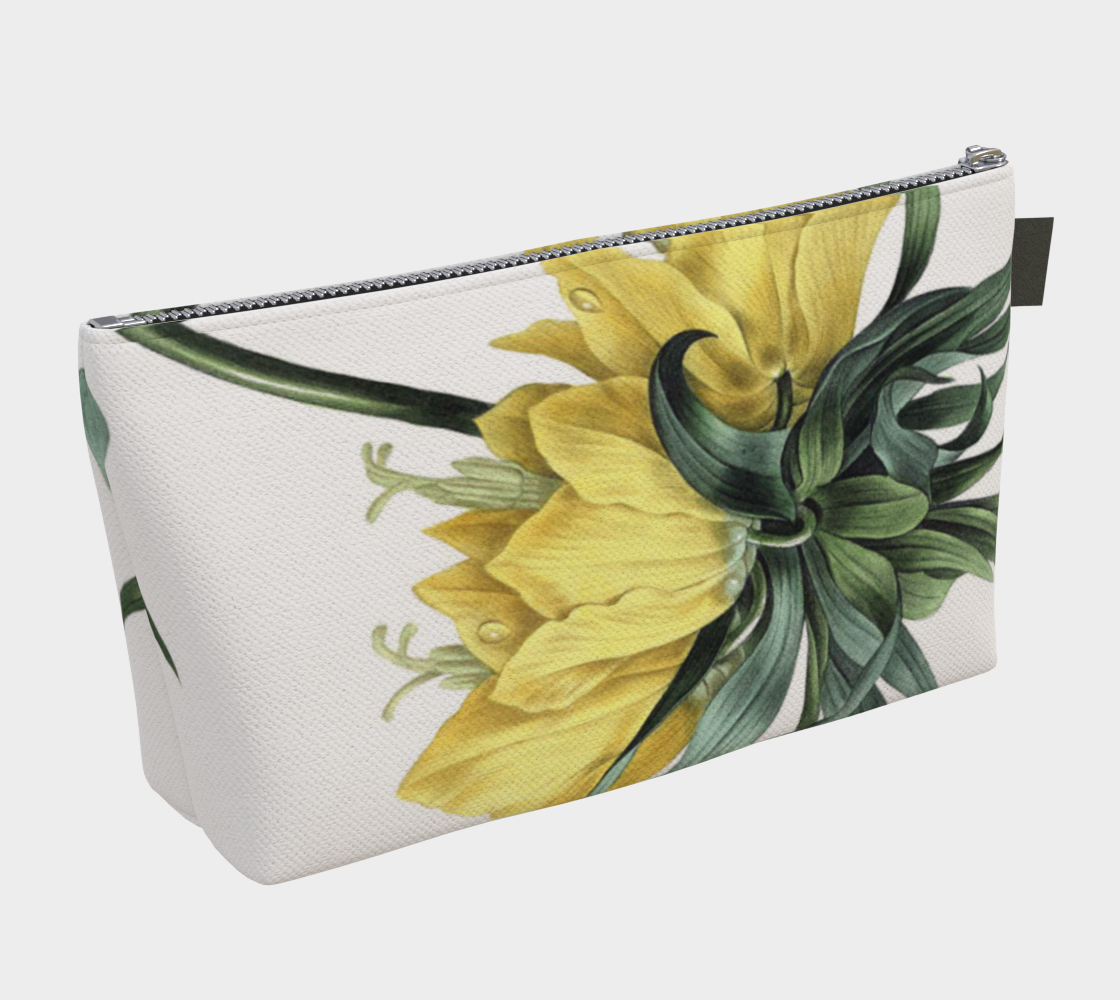 Vintage Botanical Crown Imperial Lily Make Up Bag.