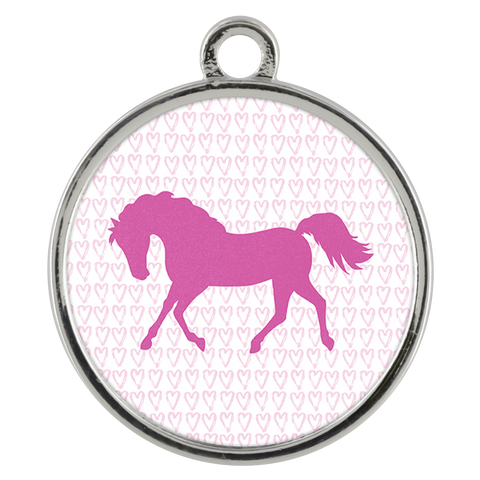 Pink Pony Charm Necklace