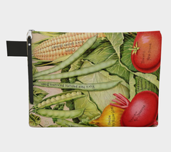 Vintage Botanical Veggie Carry All