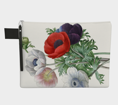 Vintage Botanical Anemone Zip Carry All