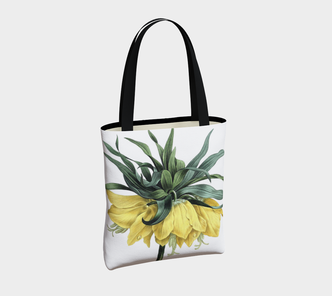 Vintage Botanical Crown Imperial Lily Tote