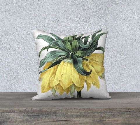 Vintage Botanical  Crown Lily Pillow Case