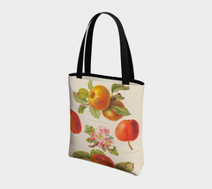 An Apple a Day Vintage Botanical Tote