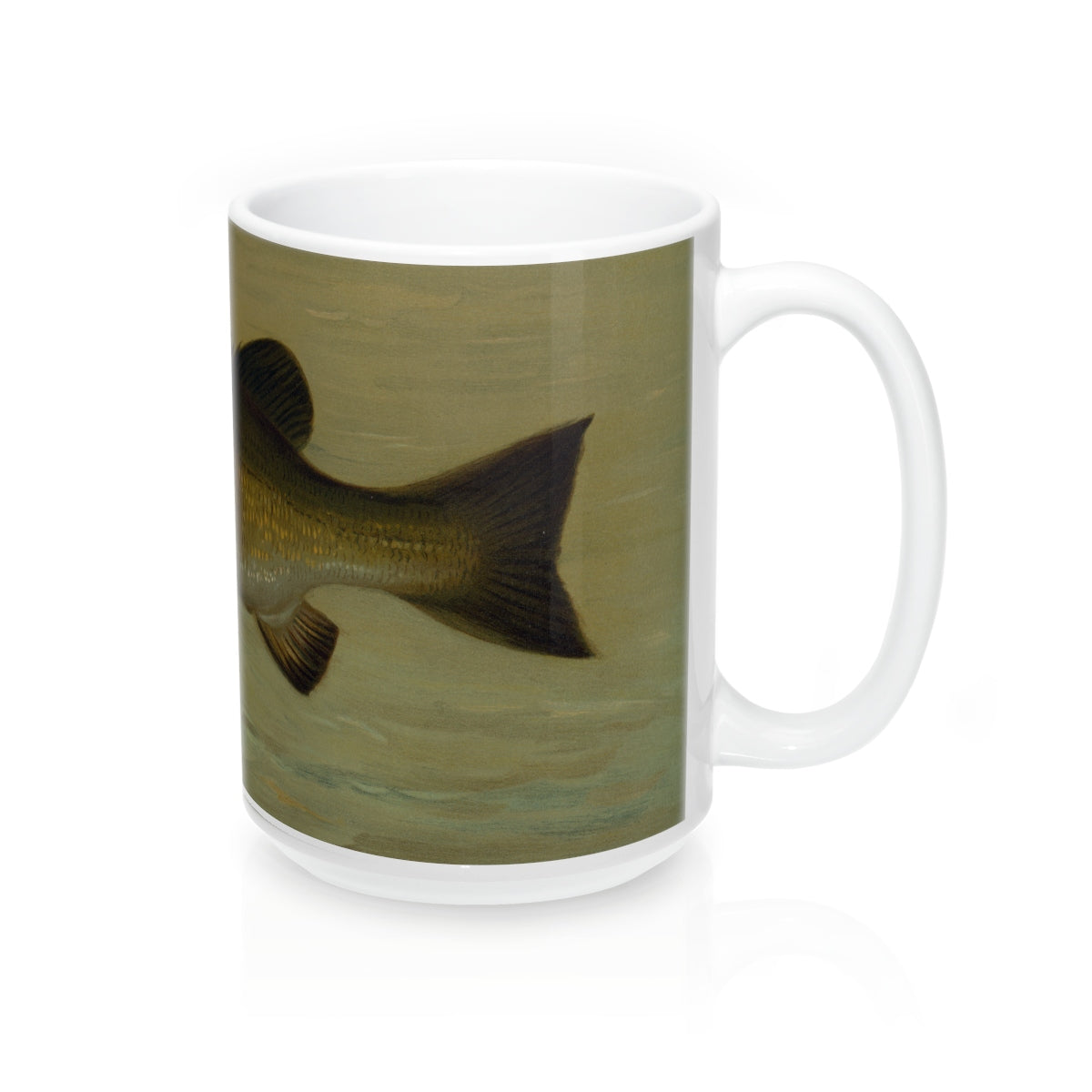 Smallmouth Bass Vintage Print Mug 15oz.