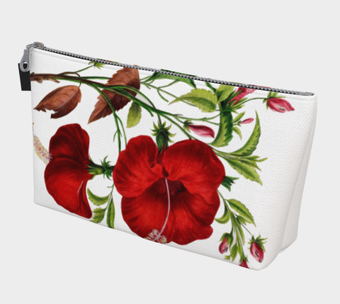 Vintage Botanical Hibiscus Make Up Bag