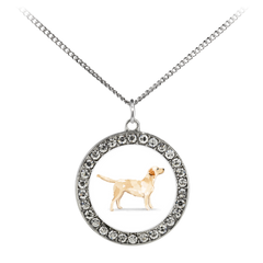 Lilly Labrador Charm Necklace