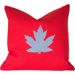 Maple Leaf Merino Wool Throw Pillow.