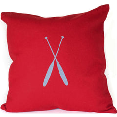 Paddles Merino Wool Throw Pillow.