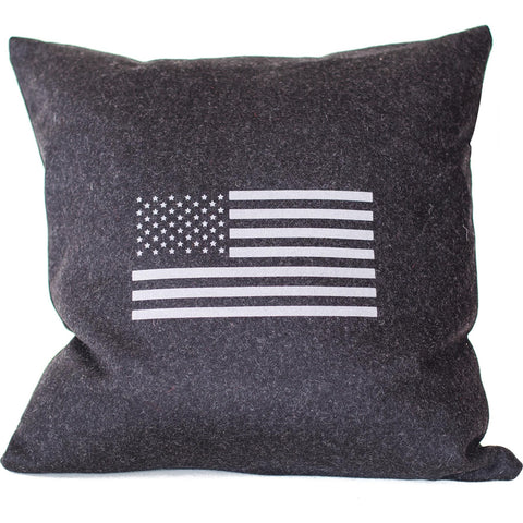 Flag Merino Wool Throw Pillow.