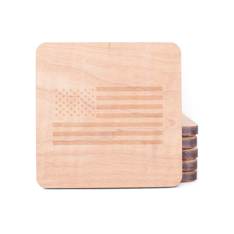 USA Flag Coasters