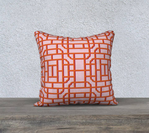 Fretwork in Orange and Ruby