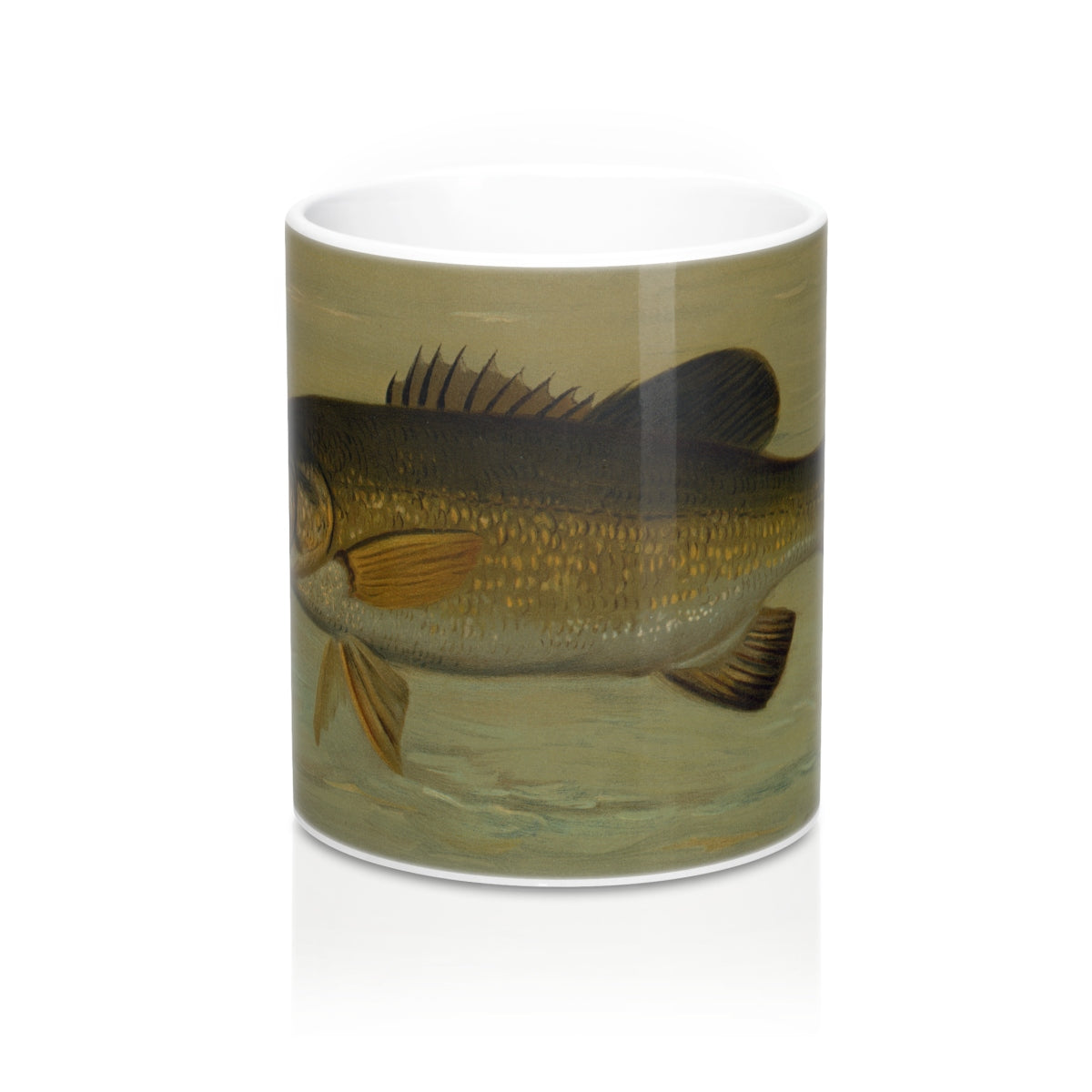 Smallmouth Bass Vintage Printed Mug 11oz