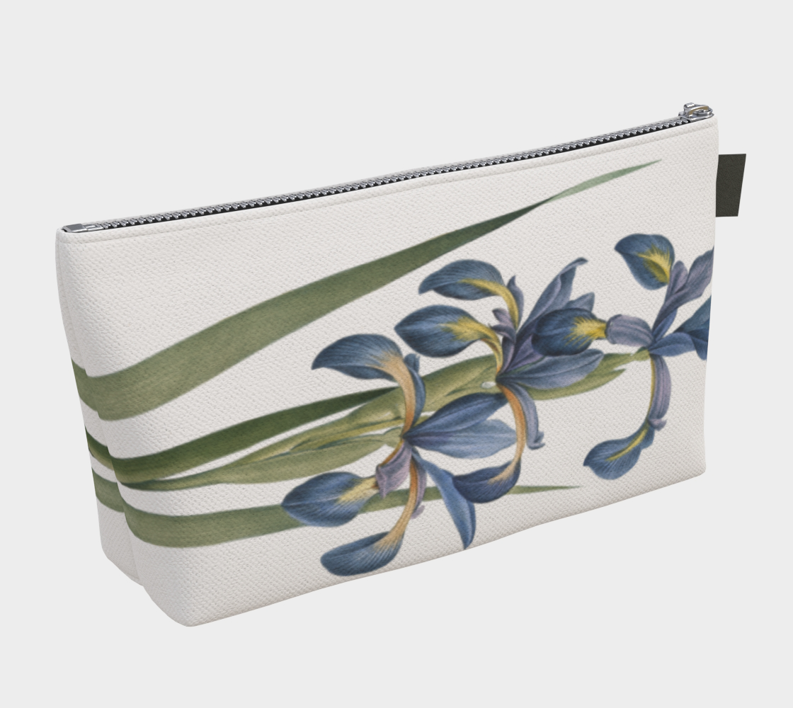 Vintage Botanical Iris Make Up Bag.