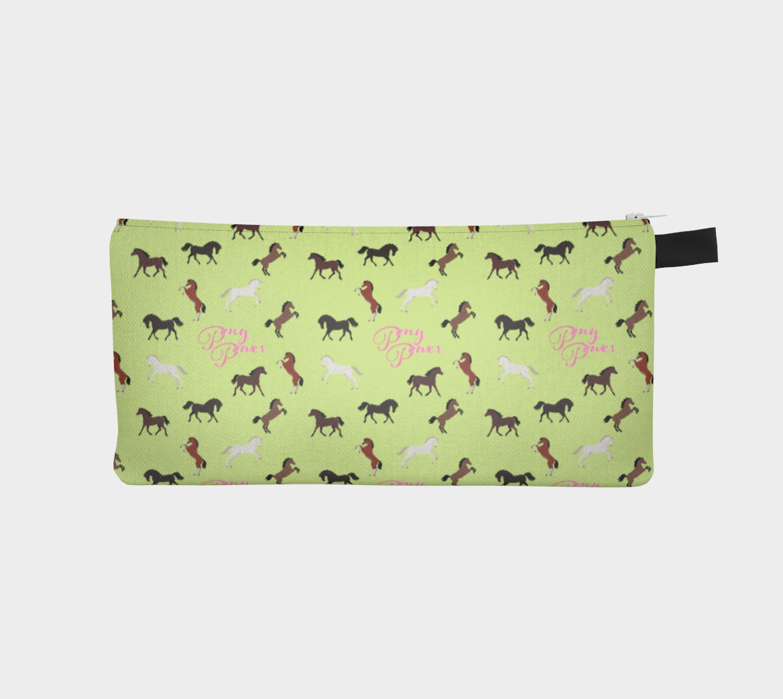 Pony Power Pencil Case Citron