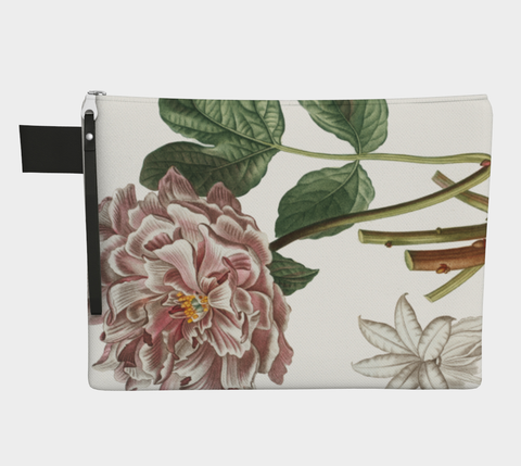 Vintage Peony Zip Carry All