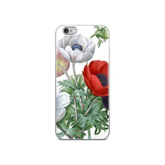 Vintage Botanical Anemone Iphone Case