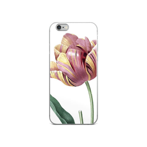 Vintage Botanical Tulip iphone Case