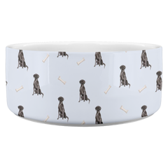 Black Lab Pattern Bowl