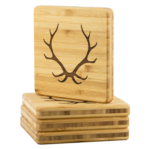 ANTLER BAMBOO COASTERS