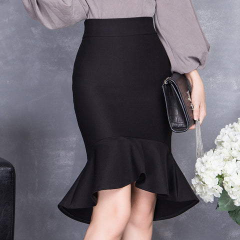 2016 spring and summer high waist slim hip skirt women