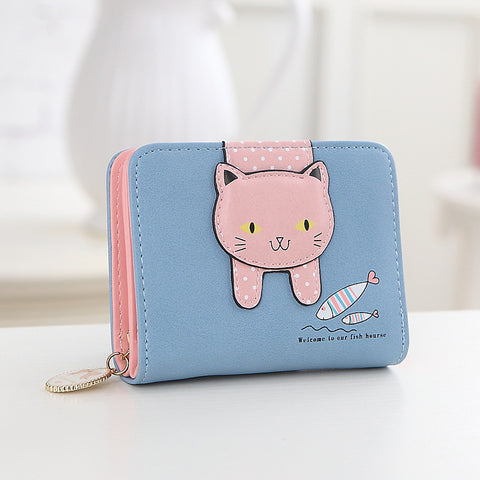 Women cute cat wallet