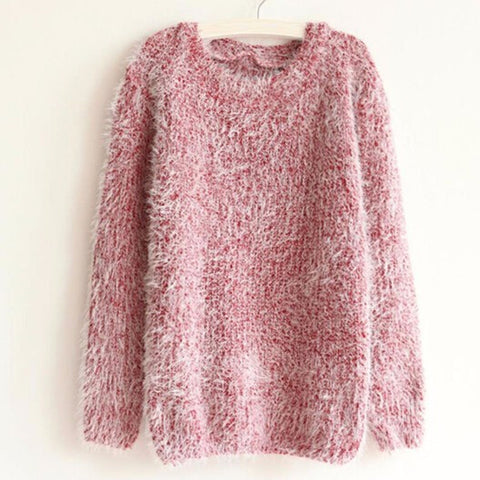 Autumn Winter Women's o-Neck Sweater