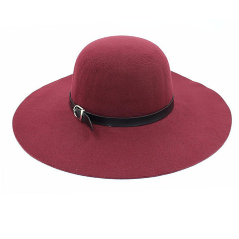 Summer Winter Fashion Vintage Wide-Brim Fedoras Hats for Women