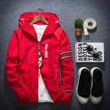 New Fashion Korean Slim Fit Young Men Hooded Jacket