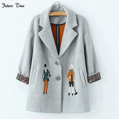 women coats European fashion Female woolen jackets  New arrive