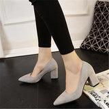 Women 's shoes thin high heels thick shoes 7cm