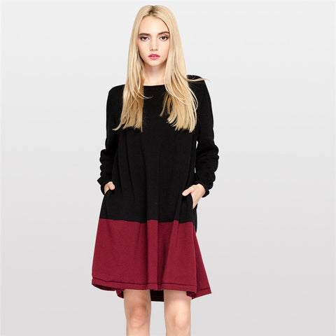 Women O-neck Long Knitted Sweater