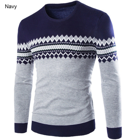 Casual Men Pullovers Sweater Long Sleeve