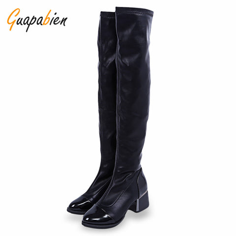 Black Knee High Boots women