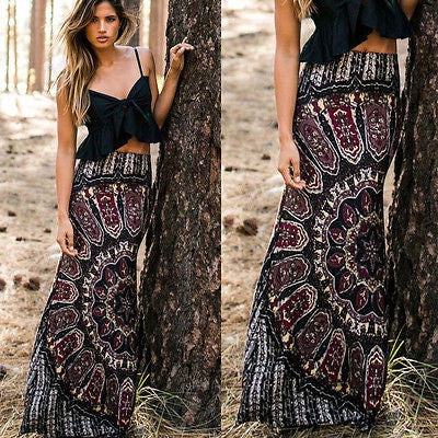 Women Long Maxi Slim Skirt Beach Clothing