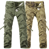 Men army green big pockets  army pants