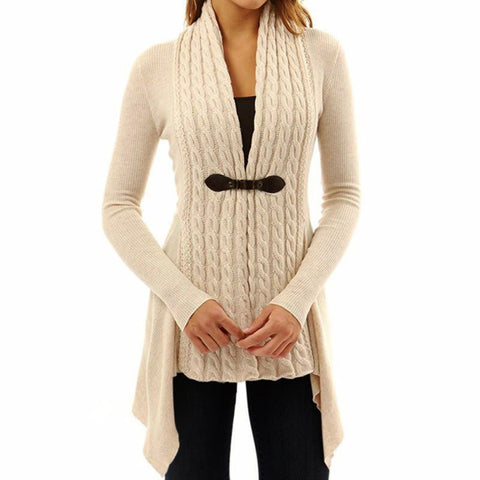 Spring Women's Long Sleeve Knitted Sweater