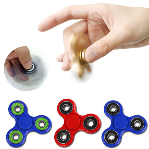Tri-Spinner Fidget Toy Plastic EDC Hand Spinner For Autism