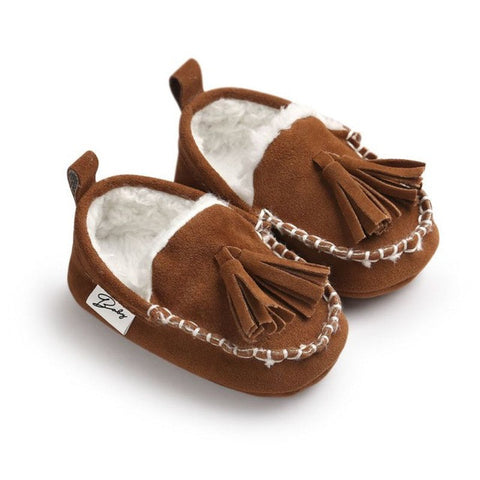 Baby Pu Leather Infant Suede Boots kids Shoes