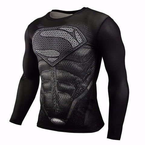 New arrive Shirt Men Long Sleeve 3D Printed T-shirt Superhero Captain America