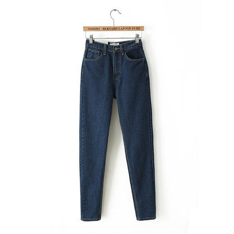 Women High Waist Denim Jeans Vintage Slim Jeans High Quality